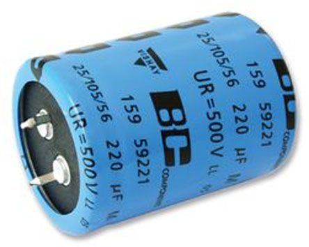 Vishay 100μF Electrolytic Capacitor 500V dc, Snap-In - MAL215919101E3 (100)
