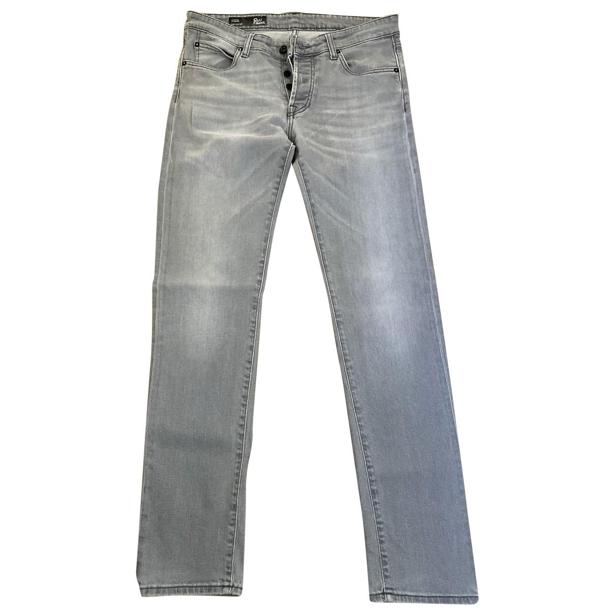 Roy Roger's \N Grey Cotton - elasthane Jeans for Men 34 US