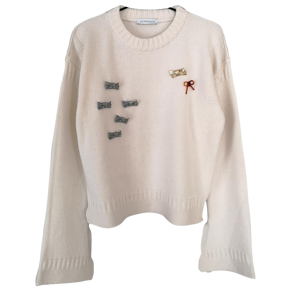 J.w. Anderson - Pull   pour femme en laine - ecru
