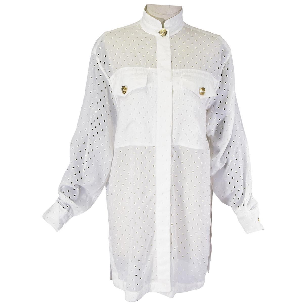 Gianni Versace - Top   pour femme en coton - blanc