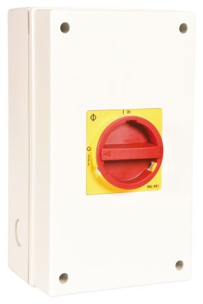 Kraus & Naimer 4 Pole Enclosed Non Fused Isolator Switch - 80 A Maximum Current, 22 kW, 30 kW Power Rating, IP66, IP67