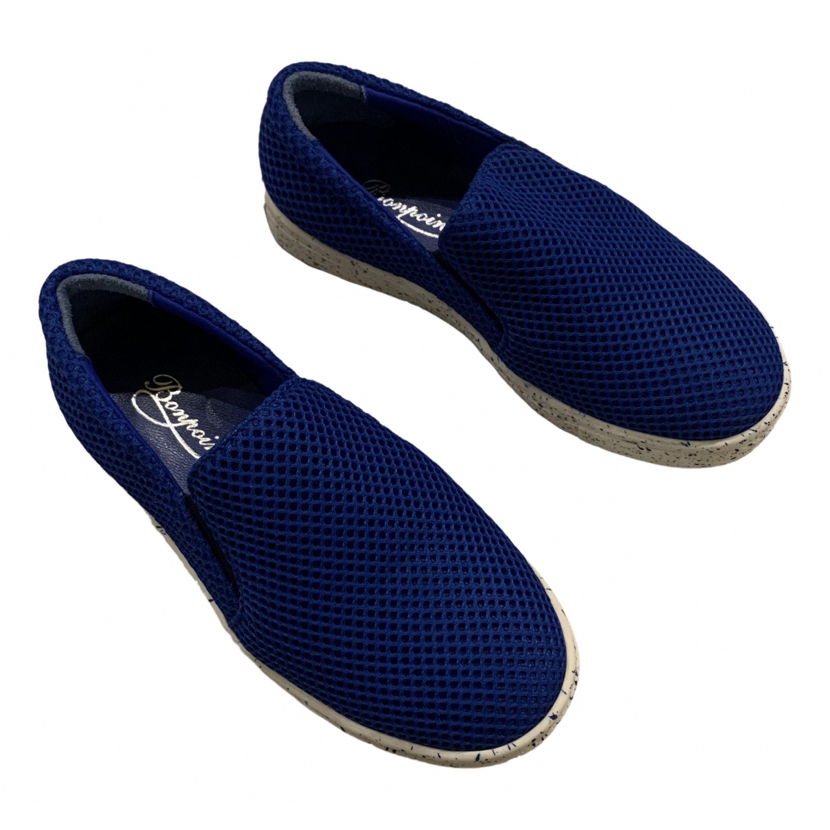 Bonpoint \N Sneakers in  Blau Leinen