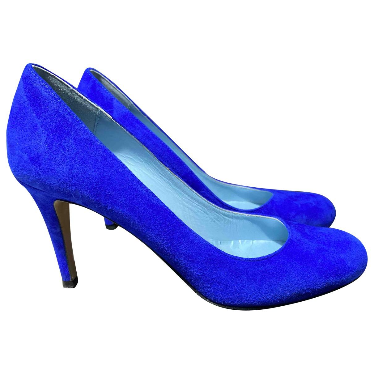 Pollini - Escarpins   pour femme en suede - bleu