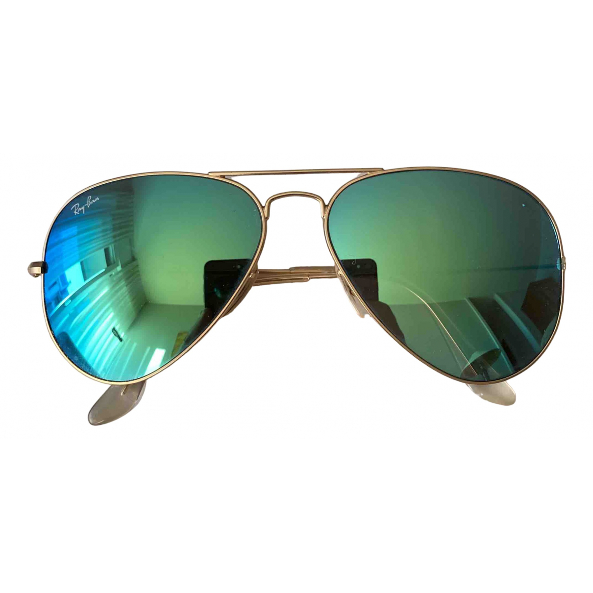 Ray-ban Aviator Green Metal Sunglasses for Men \N