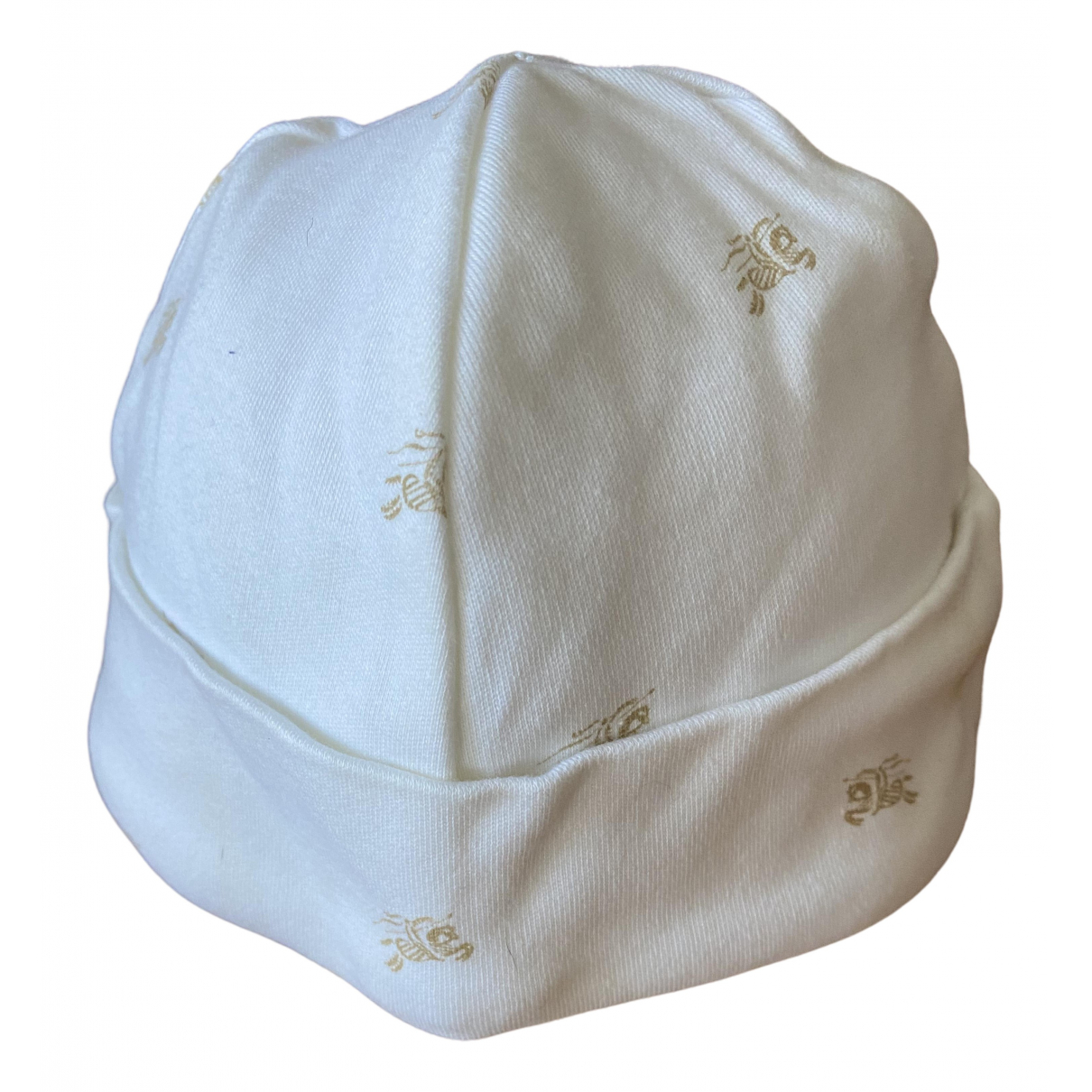 Burberry N White Cotton hat & Gloves for Kids N
