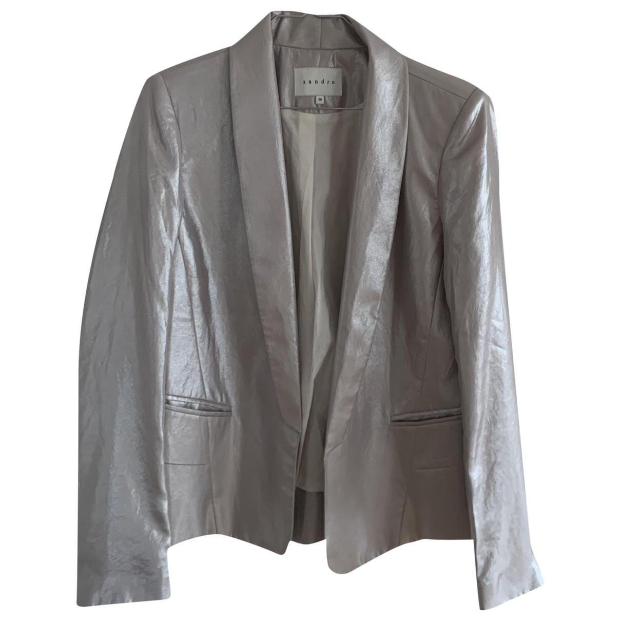 Sandro \N Silver jacket for Women 38 FR