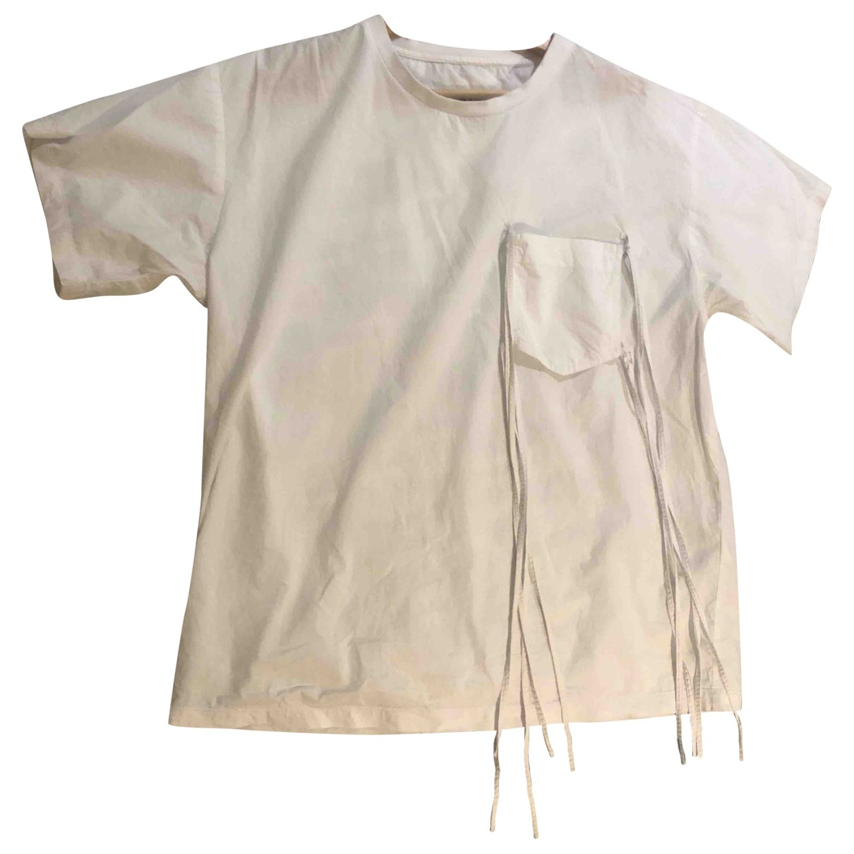 Mm6 \N White Cotton  top for Women 38 FR