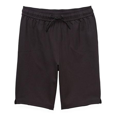 Msx By Michael Strahan Little & Big Boys Stretch Jogger Short, 14-16 Husky , Black