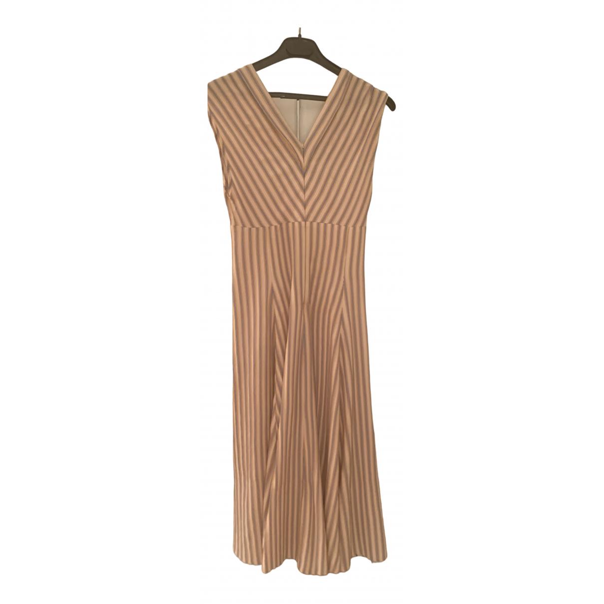 Sandro \N Kleid in  Beige Baumwolle