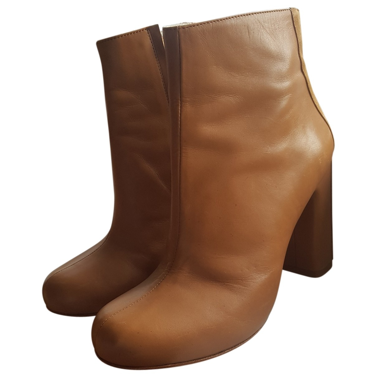 Schumacher - Bottes   pour femme en cuir - marron