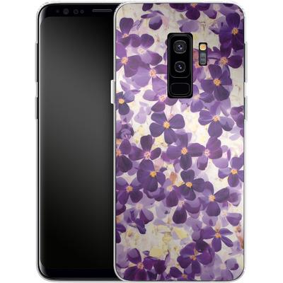 Samsung Galaxy S9 Plus Silikon Handyhuelle - Violet Bloom von Amy Sia