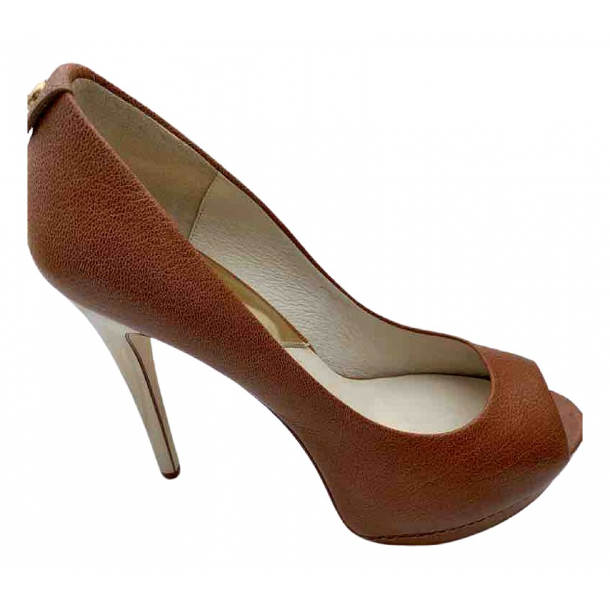 Michael Kors \N Brown Leather Heels for Women 9 US