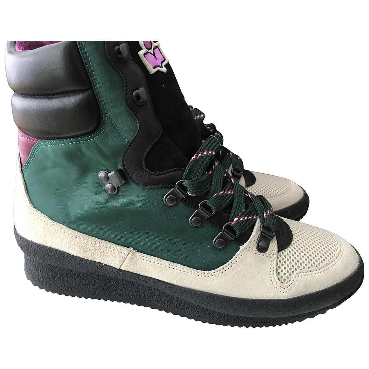Isabel Marant - Boots   pour femme en cuir - vert