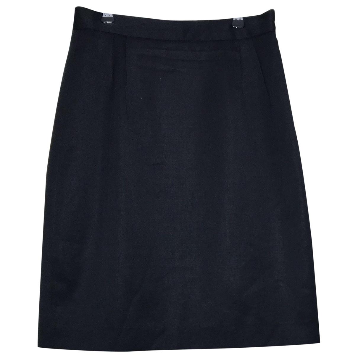 Dior - Jupe   pour femme en laine - noir