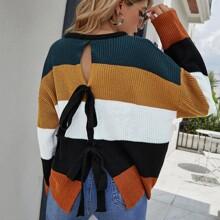 Jersey de color combinado de espalda con cordon