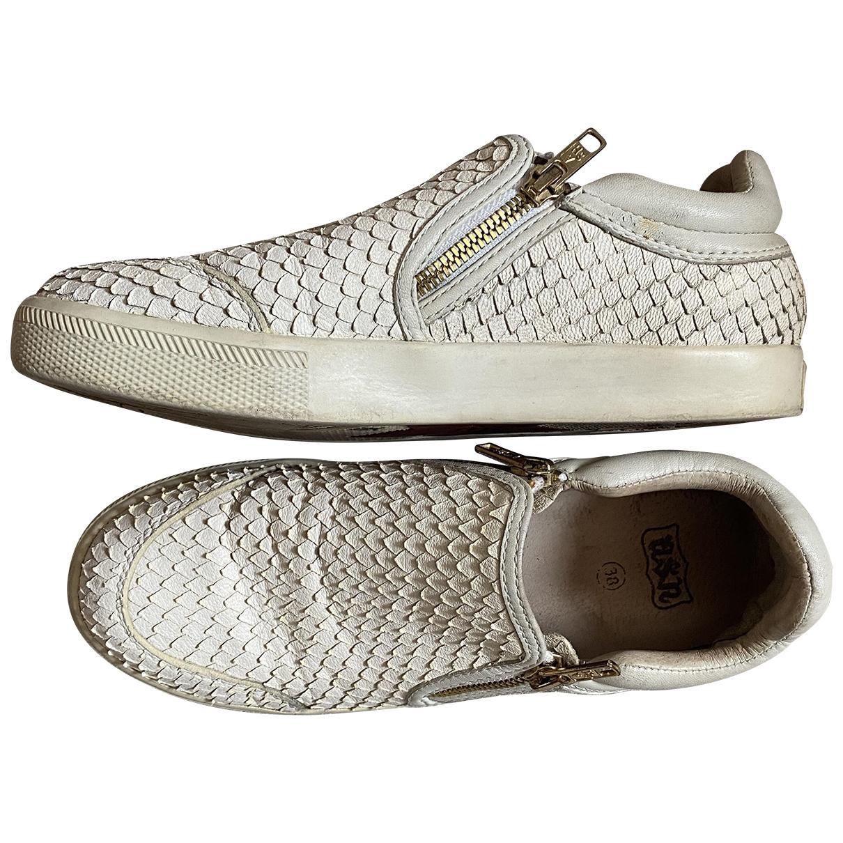 Ash - Baskets   pour femme en cuir - blanc
