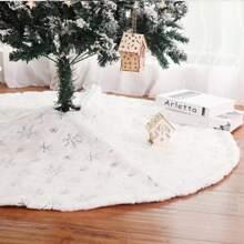 1 Stueck Weihnachtsbaumrock mit Schneeflocke Muster