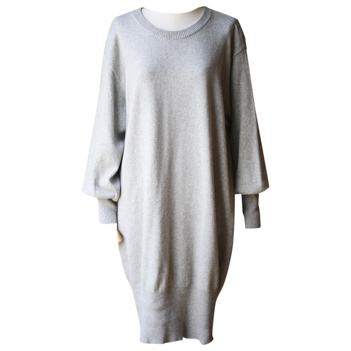Autre Marque \N Kleid in  Grau Baumwolle