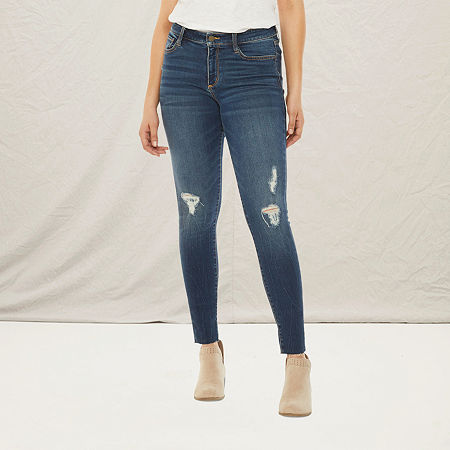 a.n.a Womens Ripped Jegging, 14 , Blue