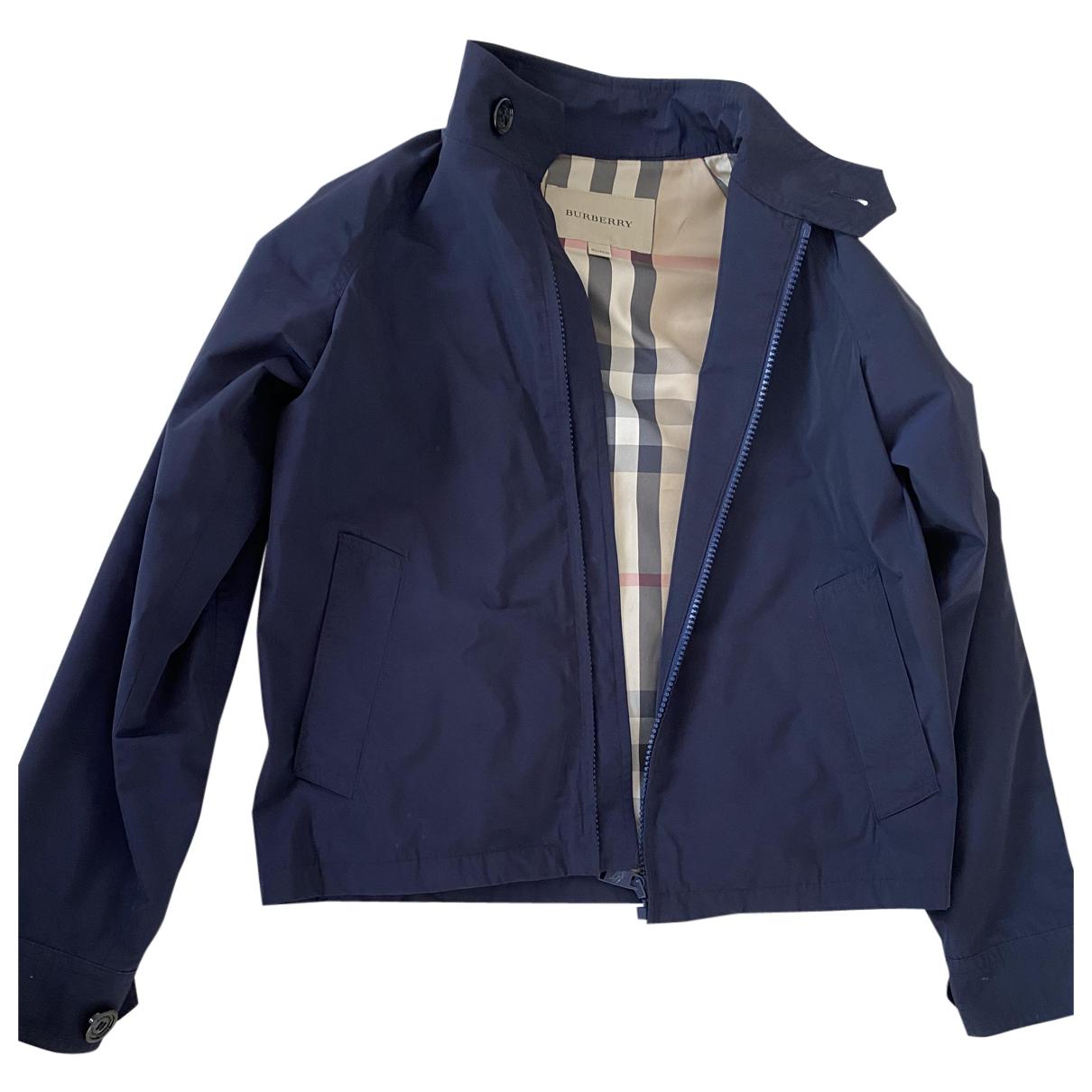 Burberry \N Jacke, Maentel in  Blau Polyester