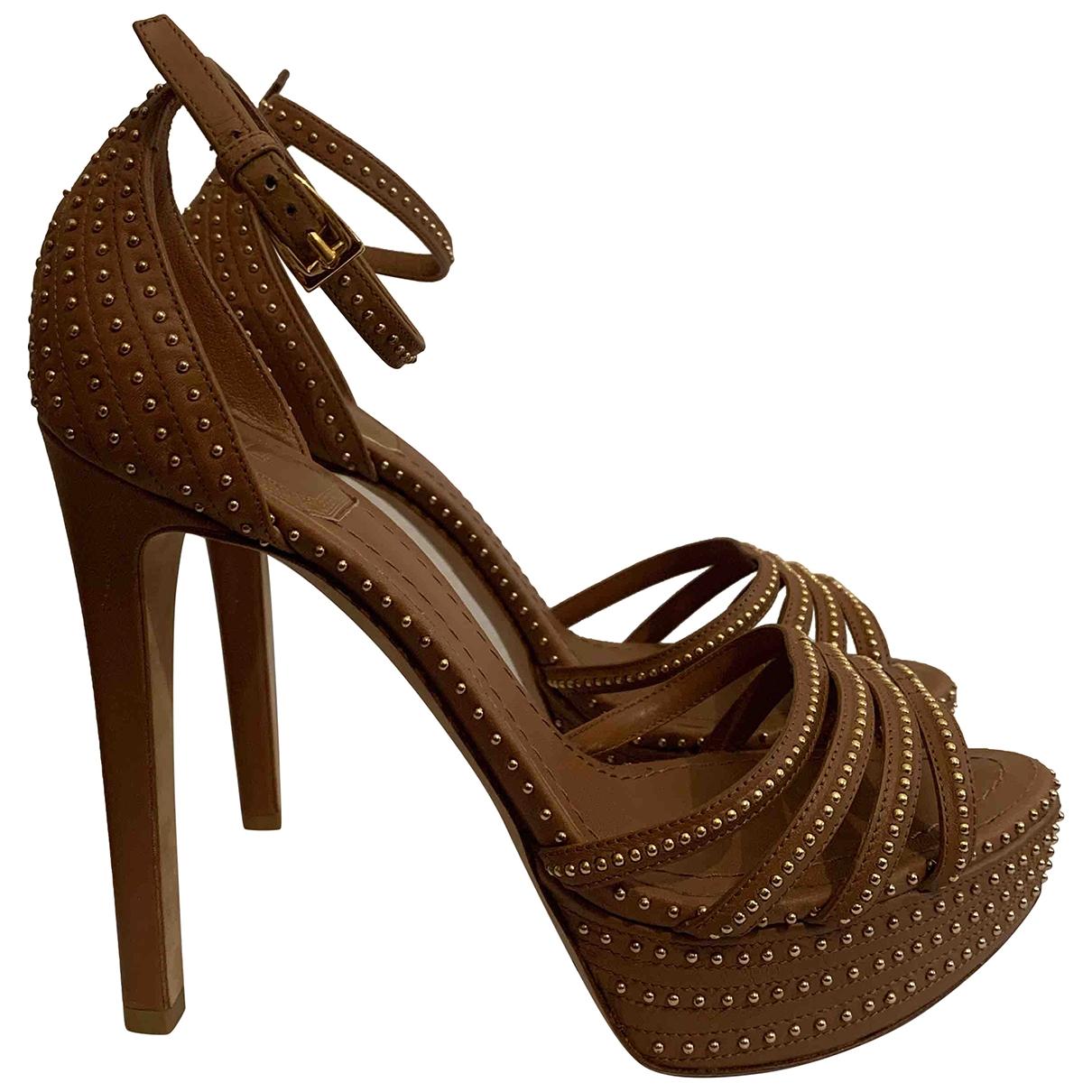 Christian Dior \N Camel Leather Heels for Women 37.5 EU