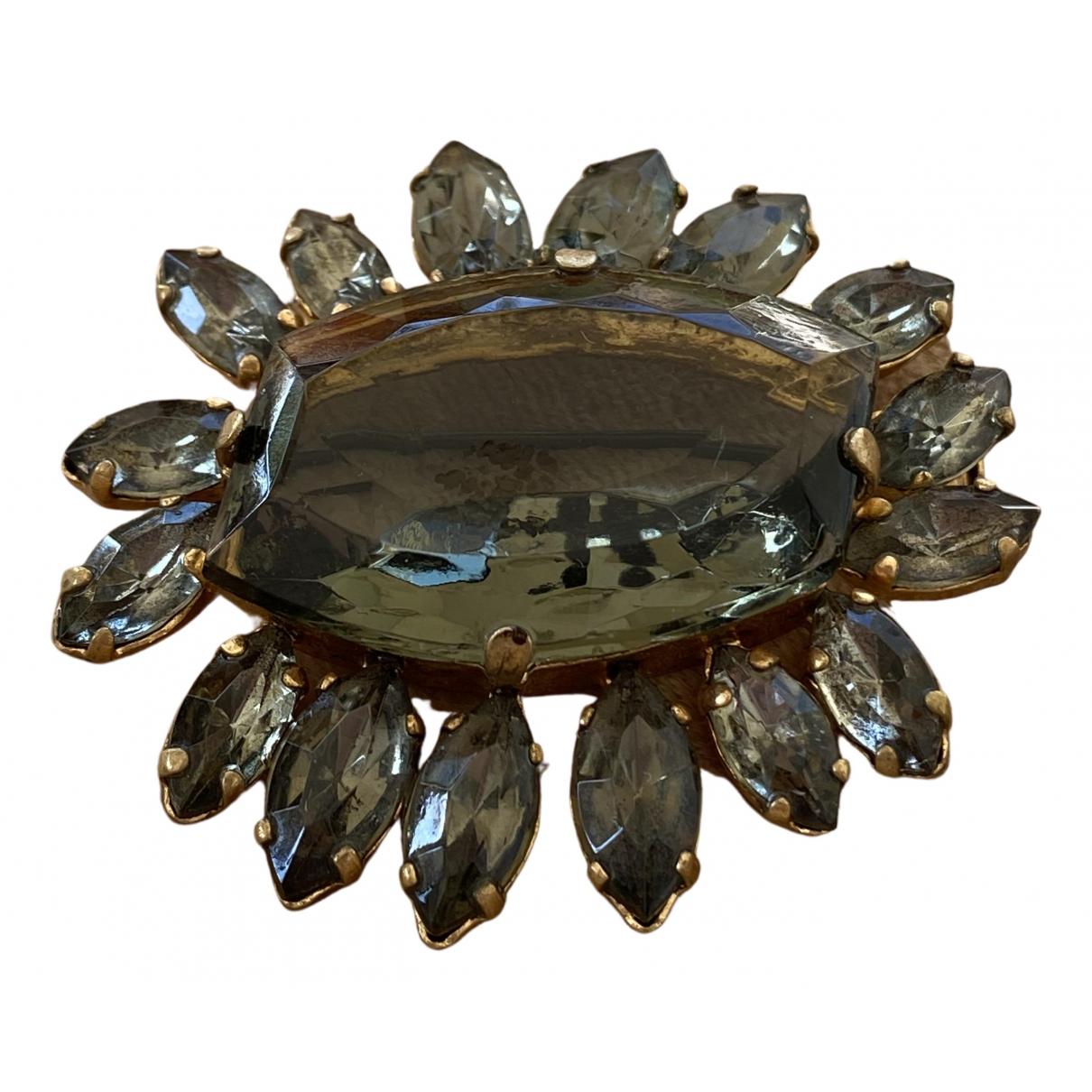 - Broche   pour femme en cristal - dore