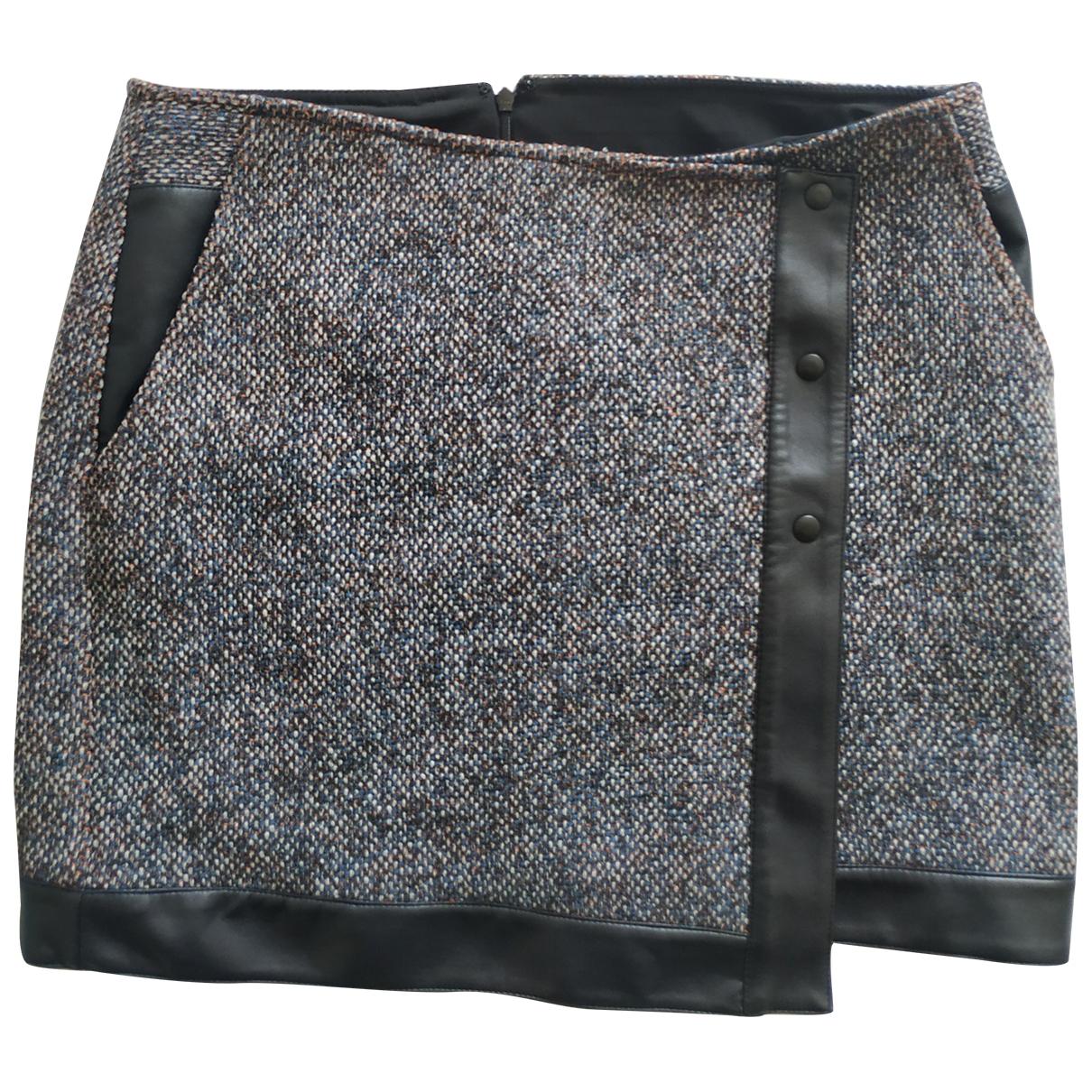 - Jupe   pour femme en tweed - multicolore