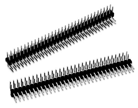 Wurth Elektronik , WR-PHD, 64 Way, 2 Row, Right Angle Pin Header (5)