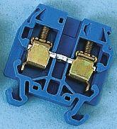 Entrelec , SNA, 500 V ac Standard Din Rail Terminal, Screw Termination, Blue (10)