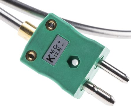 RS PRO Type K Thermocouple 750mm Length, 4.5mm Diameter → +1100°C
