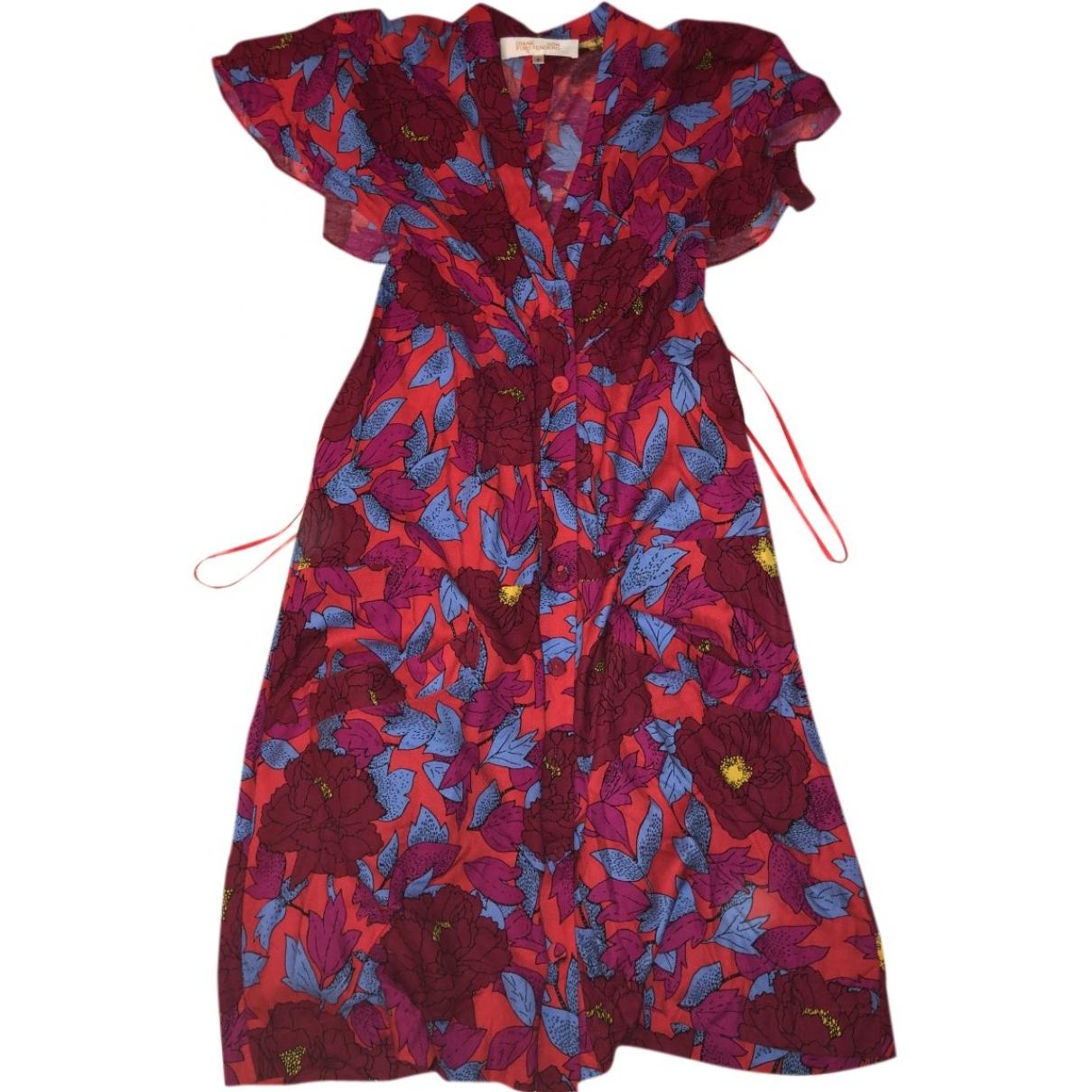 Diane Von Furstenberg \N Purple Cotton dress for Women 42 IT