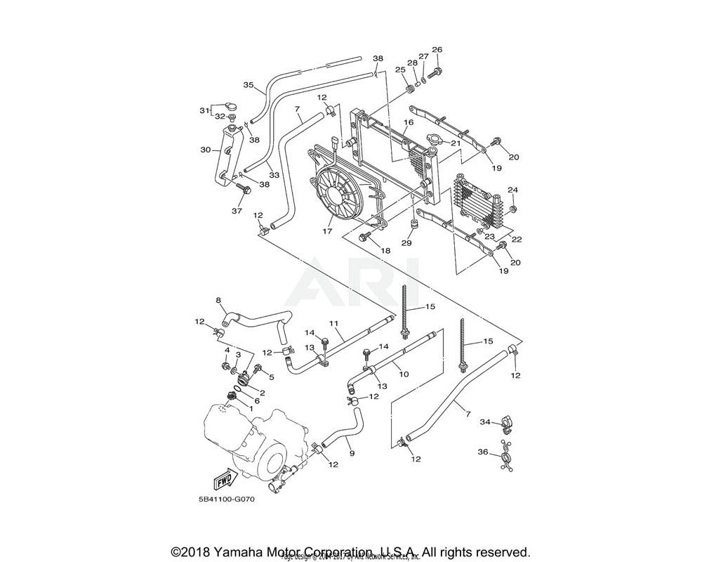 Yamaha OEM 90461-12800-00 CLAMP