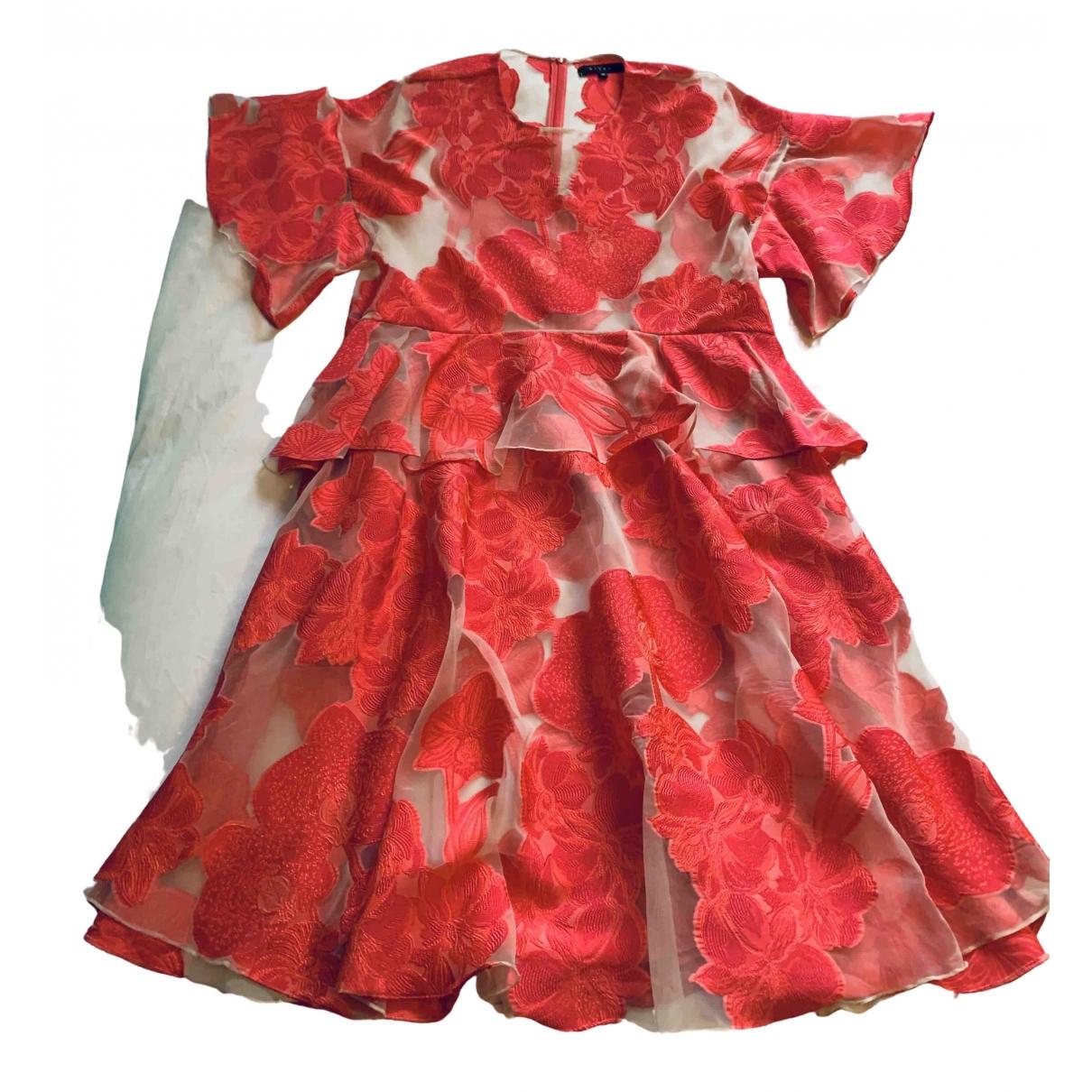 Biyan \N Kleid in  Rosa Seide