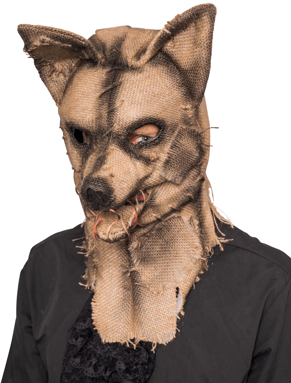 Kostuemzubehor Maske Wolf Farbe: transparent