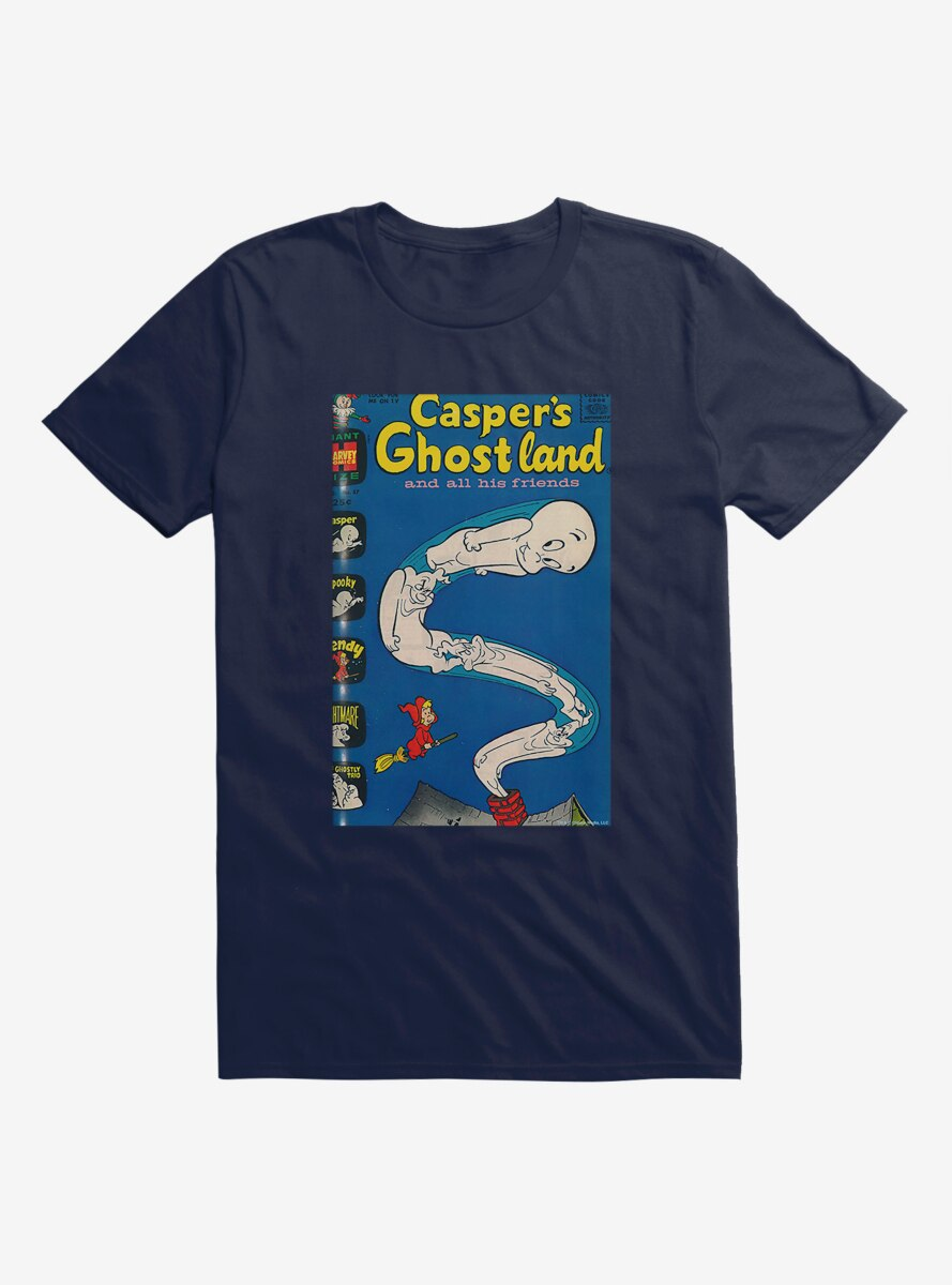 Casper The Friendly Ghost Ghostland And Friends Chimney T-Shirt