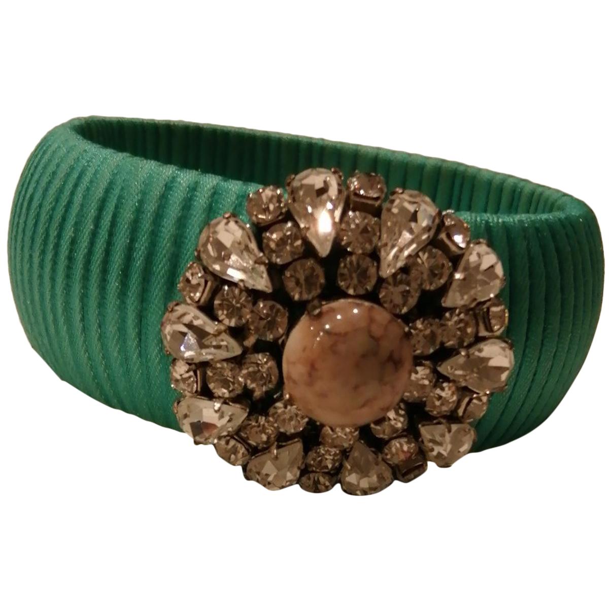 - Bracelet   pour femme en soie - vert