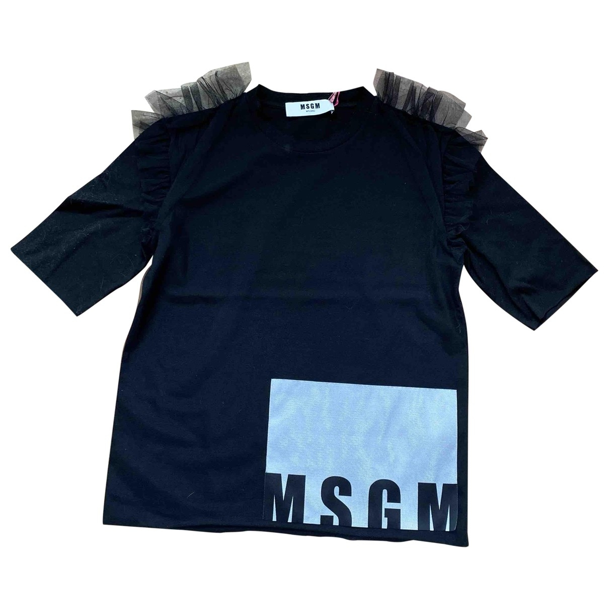 Msgm \N Black Cotton  top for Women S International