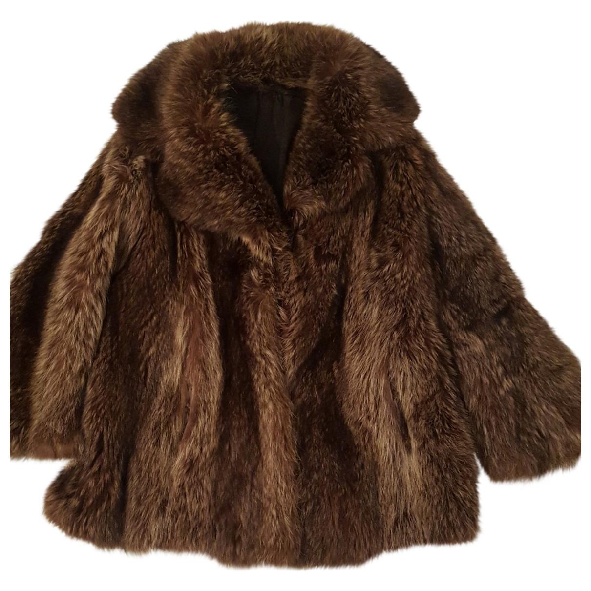 - Veste   pour femme en lapin - marron