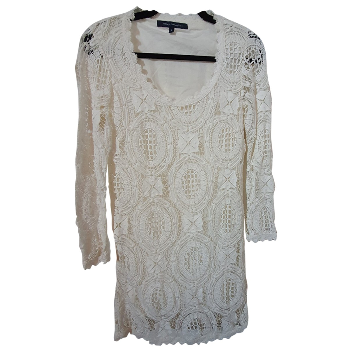 French Connection \N Kleid in  Weiss Spitze