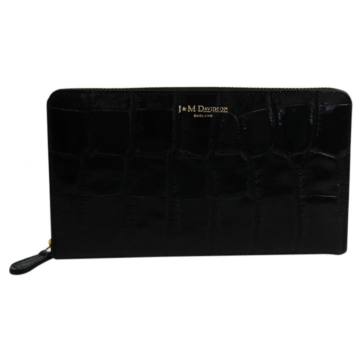 J & M Davidson \N Black Leather wallet for Women \N