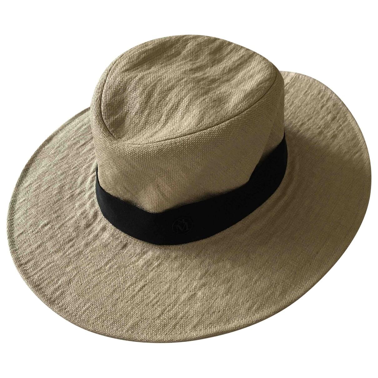 Maison Michel \N Beige Wool hat for Women M International