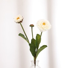 1 Zweig kuenstliche Blumen mit 3 Stuecke Blueten