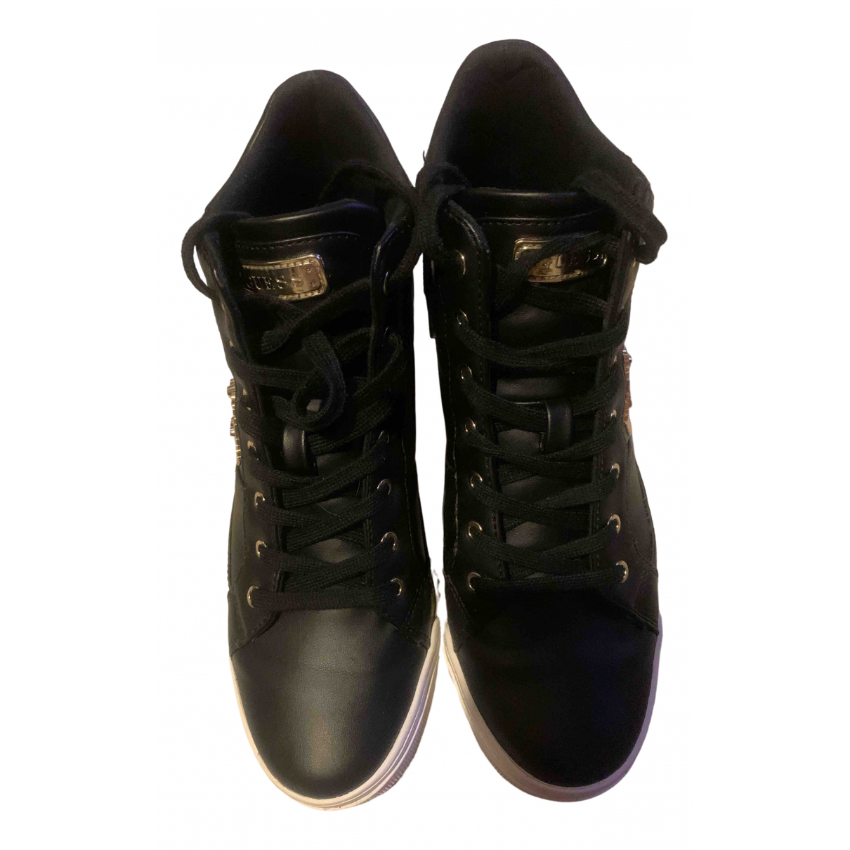 Guess \N Black Leather Trainers for Women 39 EU