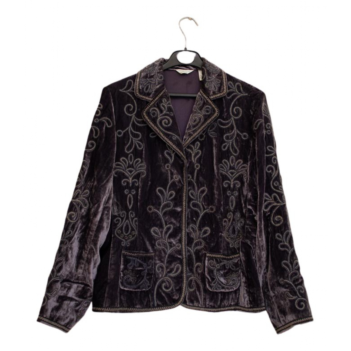 Non Signé / Unsigned N Purple jacket for Women S International