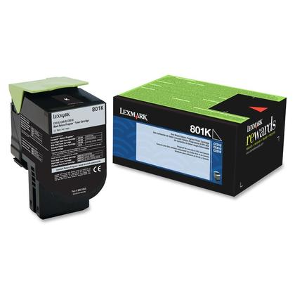Lexmark 801K 80C10K0 Original Black Return Program Toner Cartridge