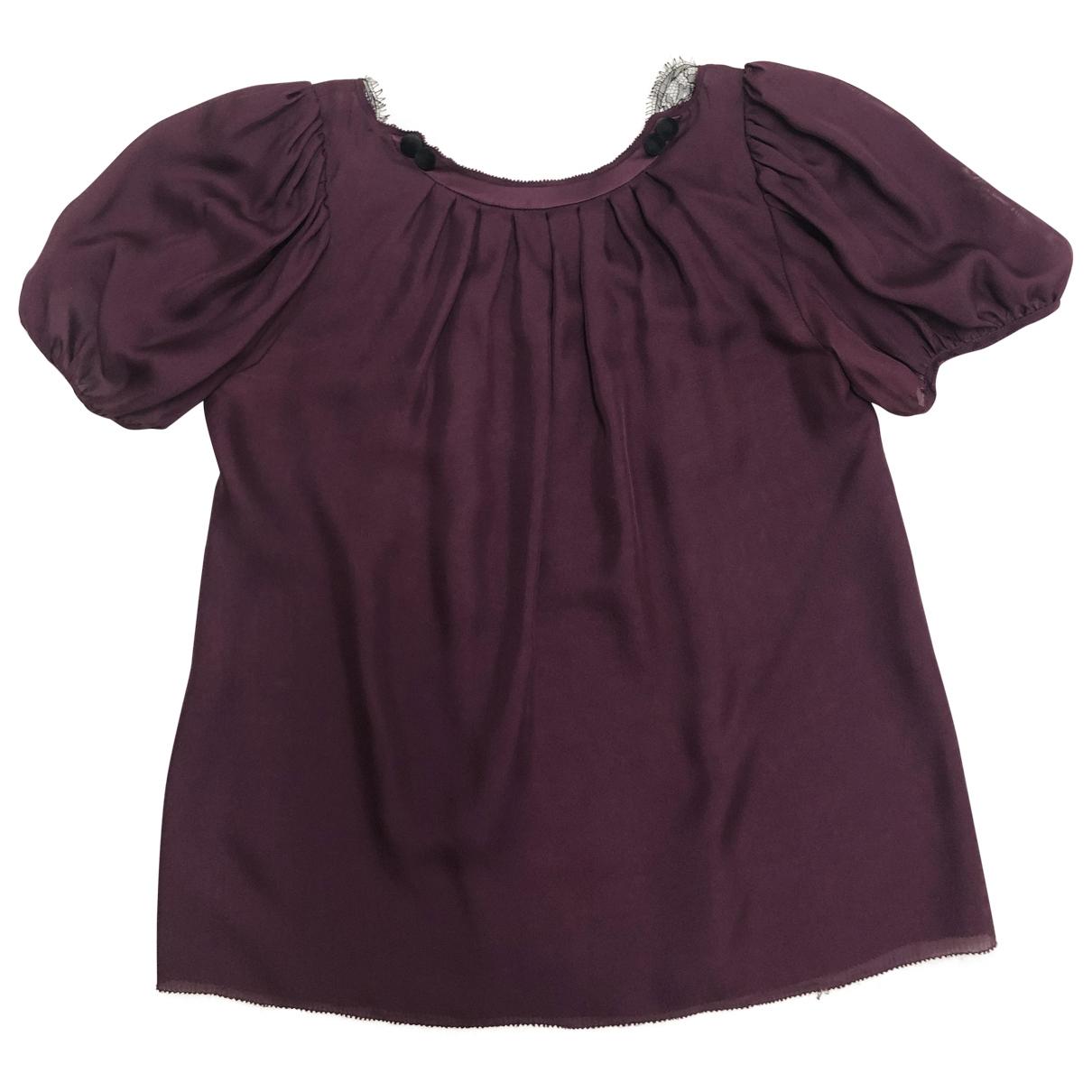 Zac Posen - Top   pour femme en soie - violet