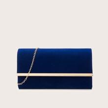 Metal Decor Chain Clutch Bag