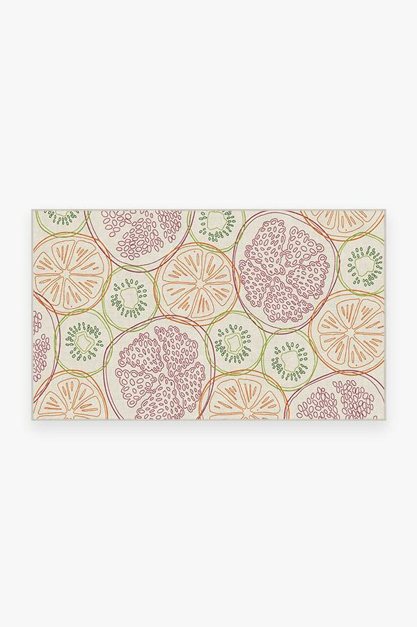Washable Rug Cover | Fruit Punch Multicolor Rug | Stain-Resistant | Ruggable | 3'x5'
