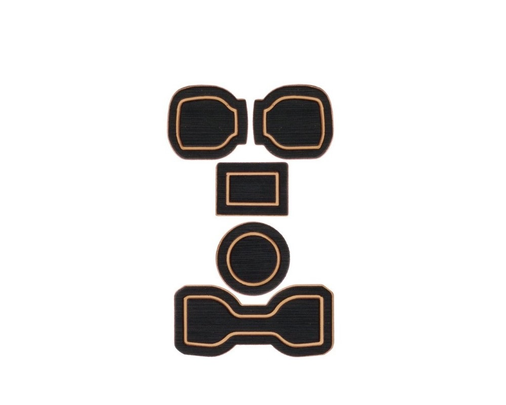 Tufskinz TAC004-FTN-X Interior Cup Holder Inserts Fits 2016-2020 Toyota Tacoma Automatic Transmission Do Not Include Qi Charger Trim 5 Piece Kit In Bl