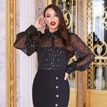 Bluse mit Muster ohne Tube